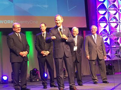 Dornan Family Accepts the IBOAI® Jere Dutt Life Time Achievement Award