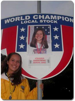 Johanna is the returning World Champion from 2008.