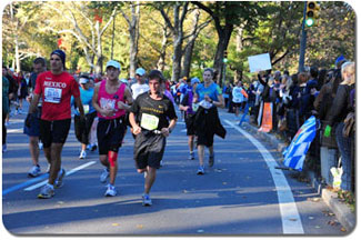 Ricky (center) sets a good pace for his first marathon.